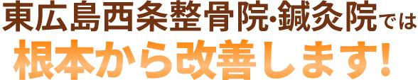 東広島西条整骨院・鍼灸院では根本から改善します